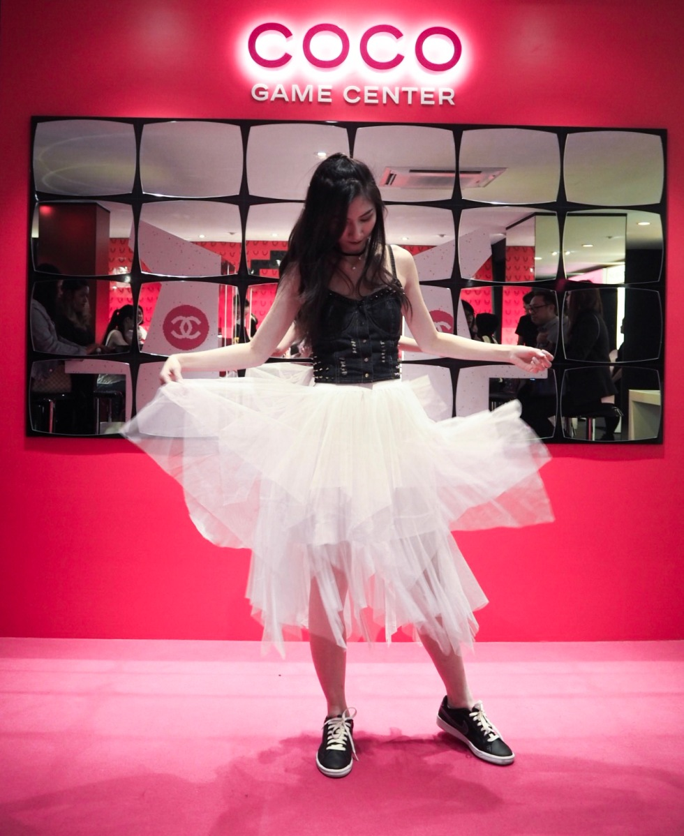 the-nat-channel-styled-by-n-ootd-white-tutu-skirt-coco-chanel-game-center-kuala-lumpur-crop-top
